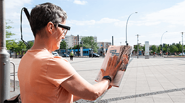 viziune tactilă pentru orbi linii de vedere distorsionate